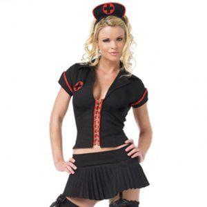 3pc Gothic Nurse Halloween Costume